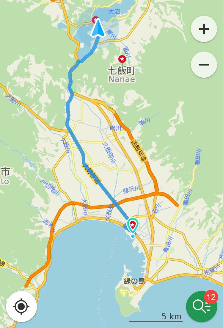 12 ème jour 40 km lac onuma Hakodate