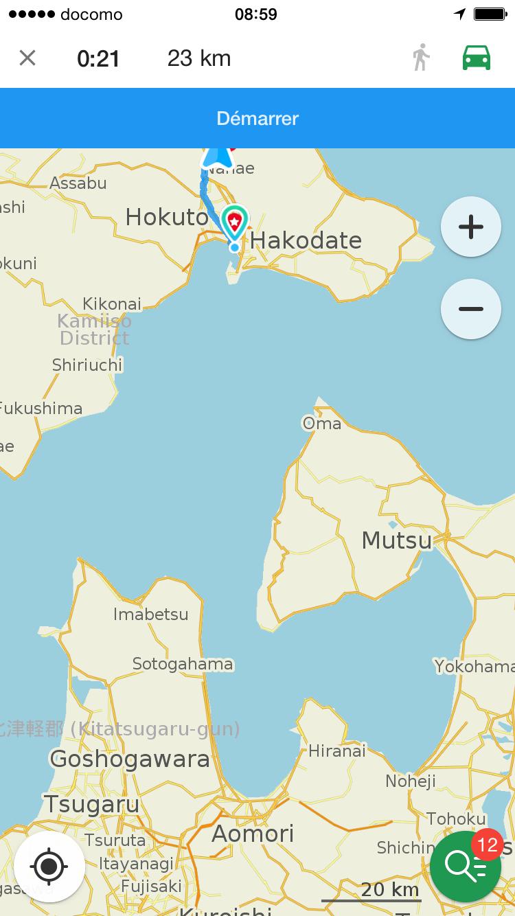 13 ème jour traversée du détroit de Tsugaru En bateau direction Aomori