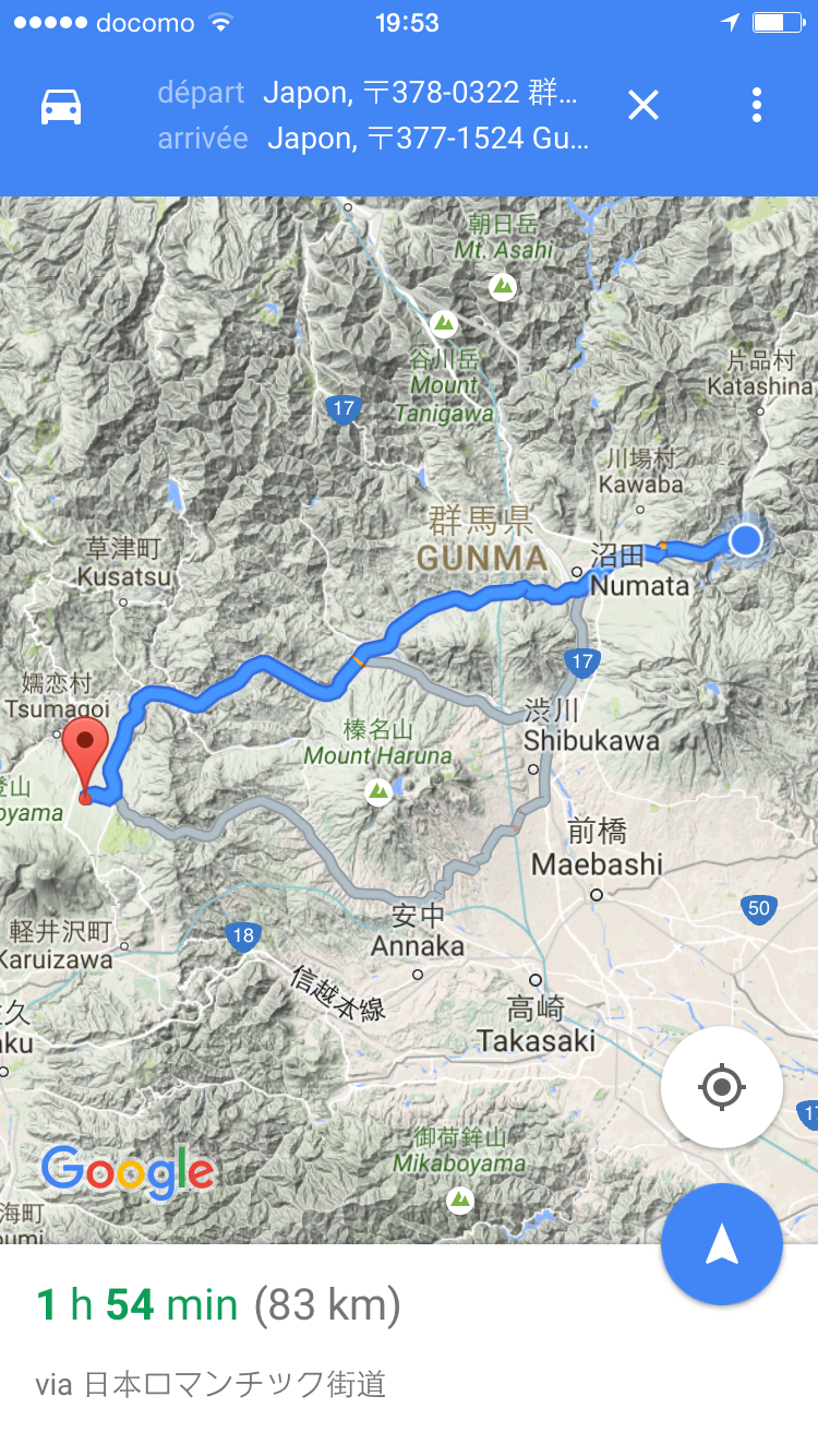 16/9/2015:83 km de prévu