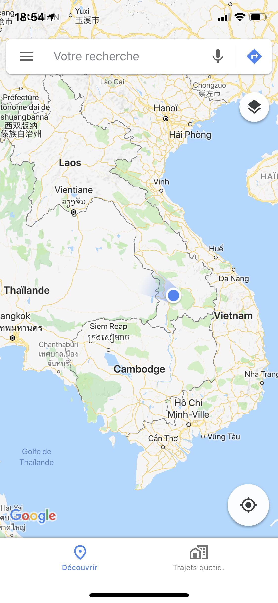 Quelle part dans les montagnes au Laos.