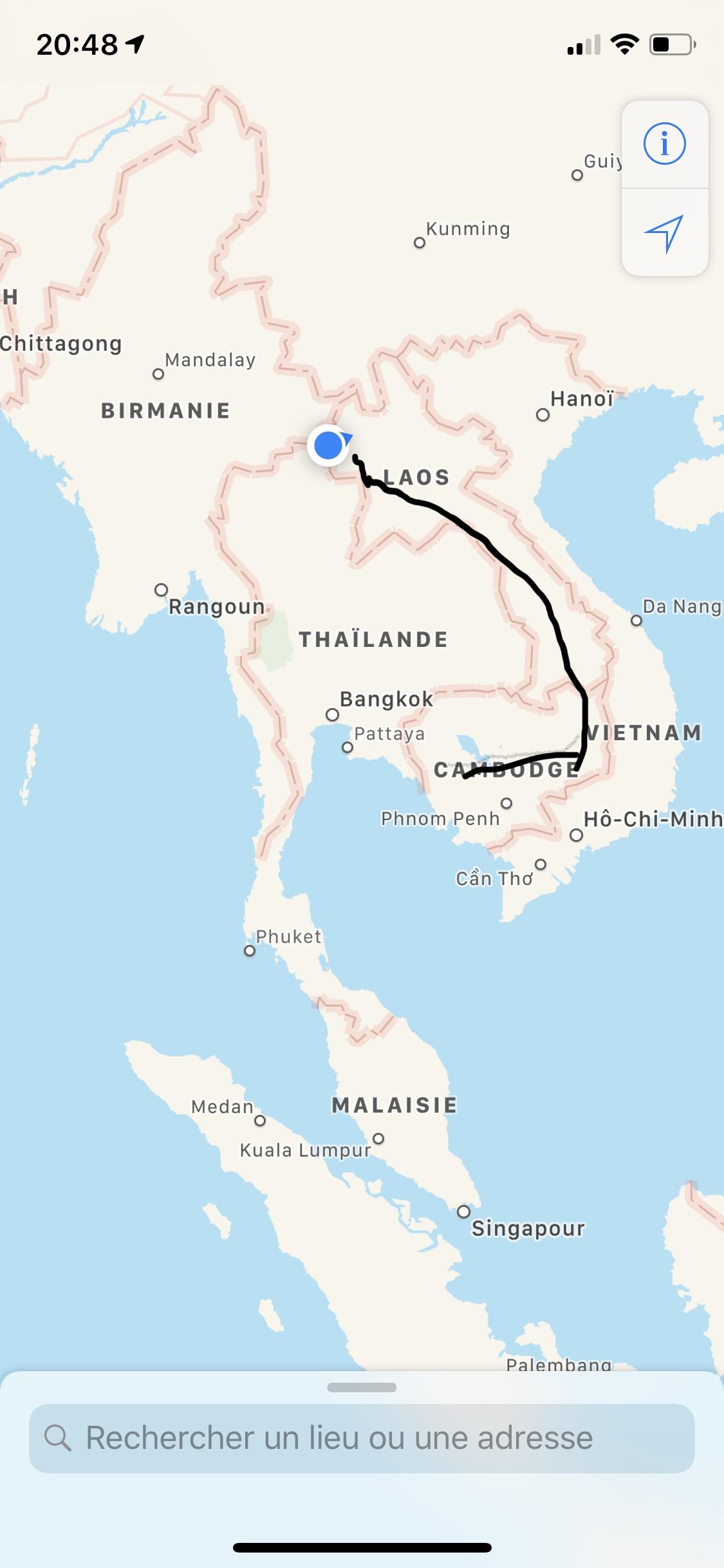 1400 km de parcourus depuis notre départ du Cambodge.